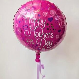 "Pink balloon which says ""happy mothers day! on."